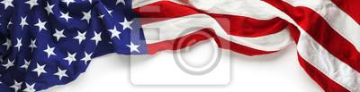 Sticker Rote, weiße und blaue amerikanische Flagge für Memorial Day oder Veteran's Day Hintergrund