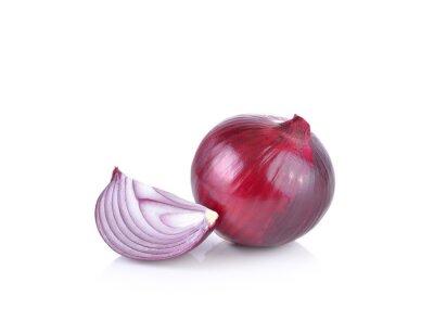 Sticker Rote Zwiebel auf weißem Hintergrund