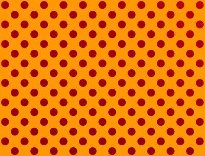 Sticker Roten Tupfen auf orange Hintergrund