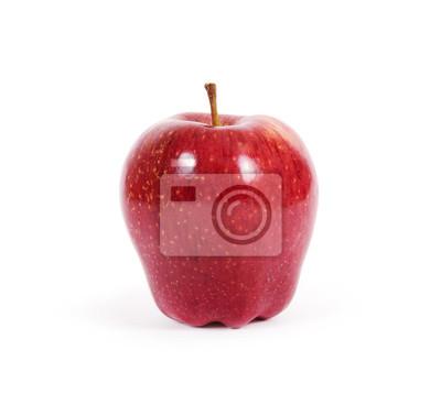 Roter Apfel auf weißem Hintergrund