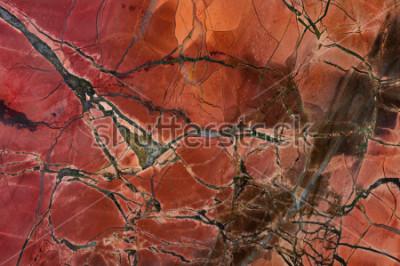 Sticker Roter Jaspis der Beschaffenheit, Nahaufnahme. Natürliches Mineral