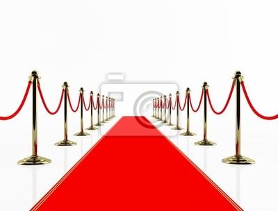 Roter Teppich. 3D-Bild.