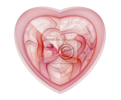 Rotes Herz Fractal