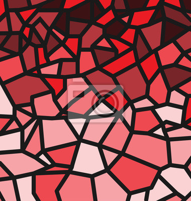 Rotes Trencadis-Muster