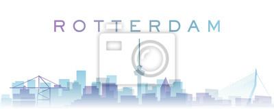 Rotterdam Transparent Layers Gradient Landmarks Skyline