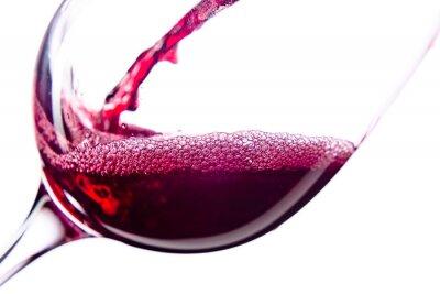 Sticker Rotwein auf weißem Hintergrund
