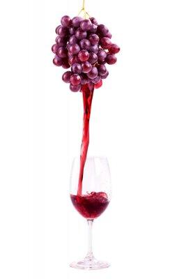 Sticker Rotwein aus Frischen Trauben