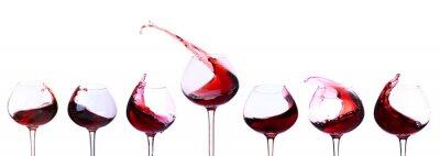 Sticker Rotwein isoliert auf weiß
