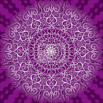 Round dekorative Muster