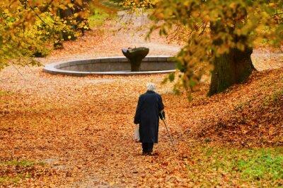 Ruhestand Frau im Park - Herbst des Lebens