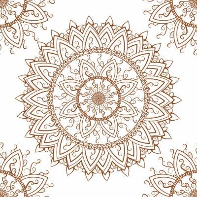 Sticker Runde ornament nahtlose Muster