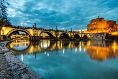 Sticker S.Angelo Brücke und Schloss, Rom, Italien