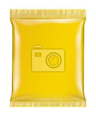Sachet Beutelpackung gelb