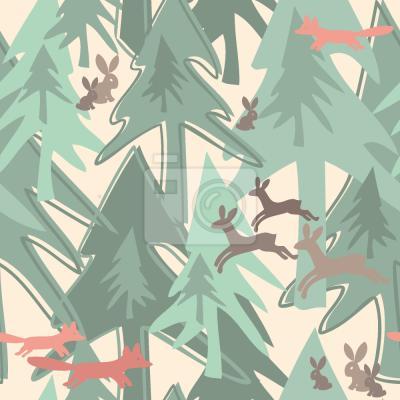 Sticker Saison im Wald wechseln