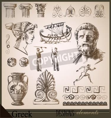 Sticker Sammlung von Design-Elementen Ancient Rome