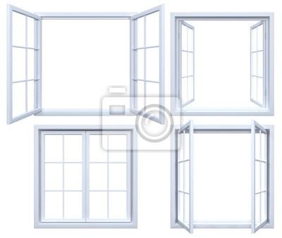 Sticker Sammlung von isolierten Fensterrahmen