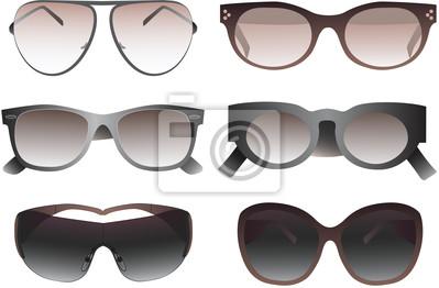 Sammlung von Sonnenbrillen. Vector