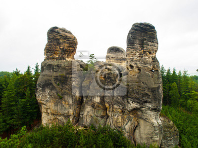 Sticker Sandstein-Formationen im Böhmischen Paradies