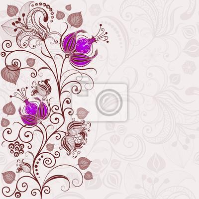 Sanfte Blumen Ostern Rahmen