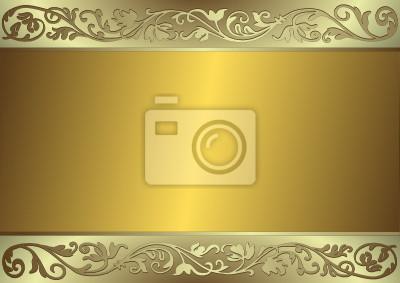 Sanfte goldenen und silbernen Hintergrund (Vektor)
