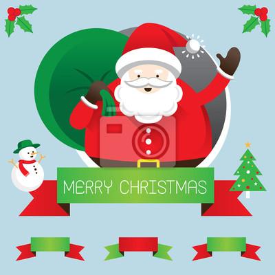 Santa mit Band und Text