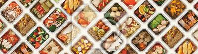 Sticker Satz nehmen Lebensmittelkästen am weißen Hintergrund weg