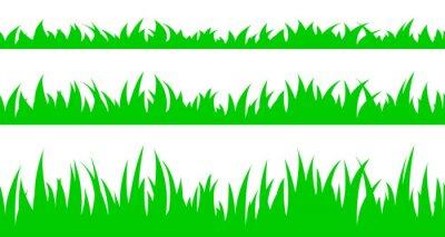 Sticker Satz von nahtlose das Gras.