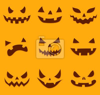 Satz Von Verschiedenen Halloween Kürbis Gesichter Notebook Sticker