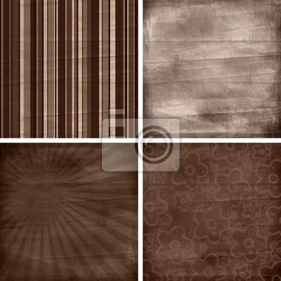 Satz von vier verschiedenen Retro-Muster Scrapbook Hintergründe