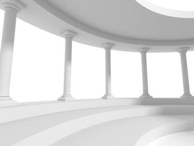 Sticker Säulen Säulen Design Architektur Hintergrund