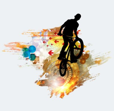 Sticker Schattenbild des Fahrradpullovers