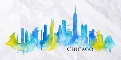 Schattenbild watercolor Chicago