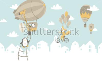 Sticker Scherzt grafische Illustration. Für Druck an der Wand, Kissen, Dekoration Kinder Interieur, Baby Wear und Hemden, Grußkarte, Vektor und andere verwenden