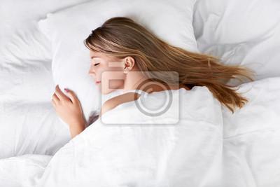 Sticker Schlafende Frau