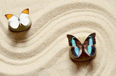 Sticker Schmetterling auf dem Sand