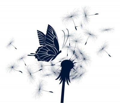 Schmetterling mit Löwenzahn.