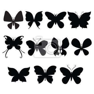 Schmetterling silouettes