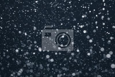 Sticker Schnee Fallen Vom Nachthimmel