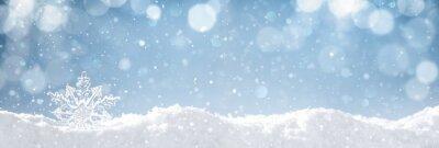 Sticker Schneeflocke auf Schnee