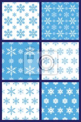 Schneeflocken nahtlose Muster Vektor
