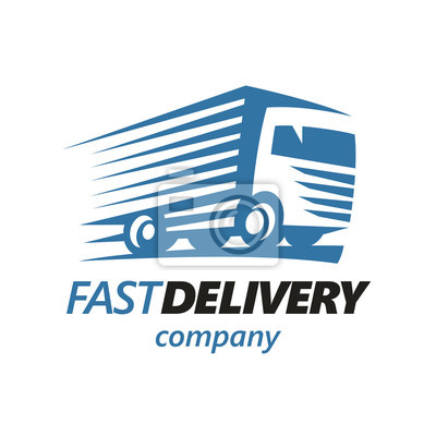 Schnelle Lieferung Truck Logo Vorlage. (Vektor)