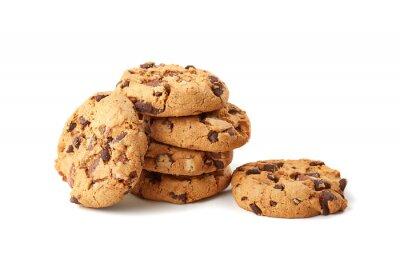 Sticker Schokolade Cookies auf weißem