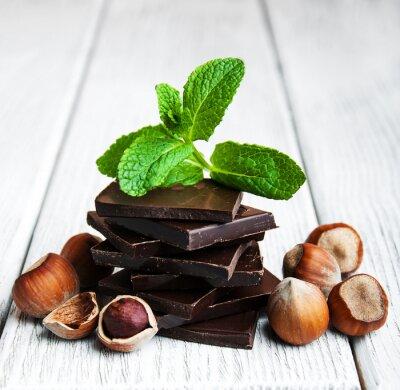 Sticker Schokolade mit Nüssen