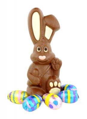 Sticker Schokoladen-Osterhase Und Eier