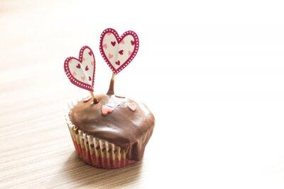 Sticker Schokoladenmuffin Dessert