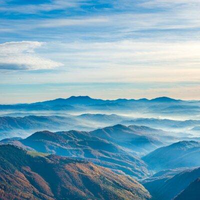 Sticker Schöne blaue Berge und Hügel