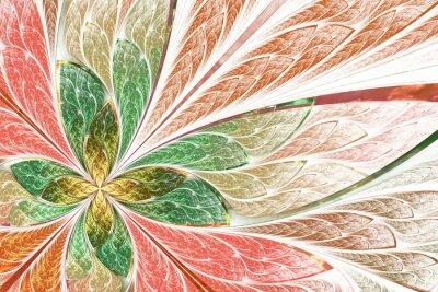 Schöne fraktale Blume oder Schmetterling in Glasmalerei Fenster st