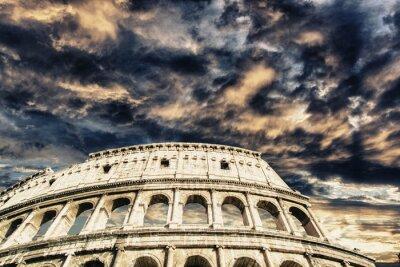 Sticker Schöne Himmel über Kolosseum in Rom