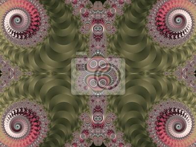 Schöne Hintergrund mit Spirale Muster. Rosa und grün-Palette
