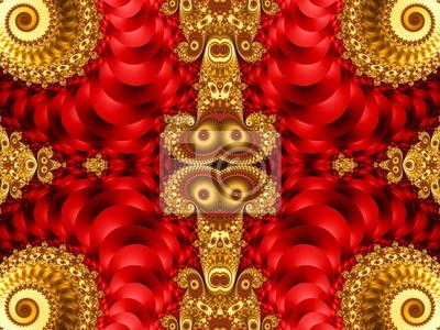 Schöne Hintergrund mit Spirale Muster. Rote und gelbe Palette